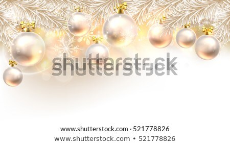 Baubles on silver a ribon Stock photo © gorgev