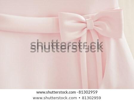 Dama de honra vestir grande seda arco Foto stock © m_pavlov