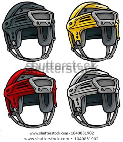 Conjunto hóquei capacete cores esportes Foto stock © perysty