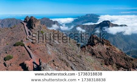 piedras · canarias · tierra · montana · azul - foto stock © lunamarina