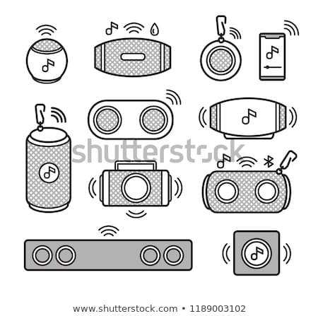 Black loudspeaker closeup - vector Stock photo © pzaxe