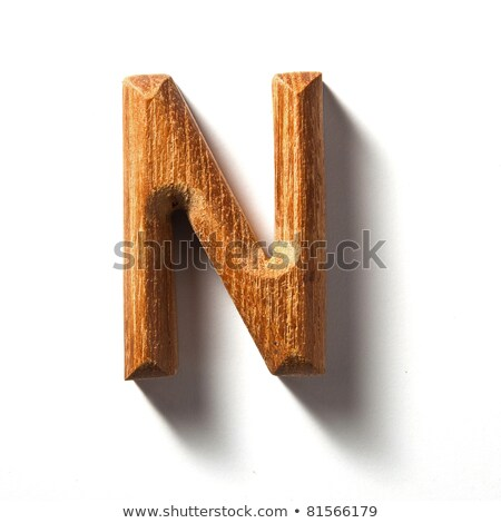 wooden alphabet - letter N Stock photo © ozaiachin