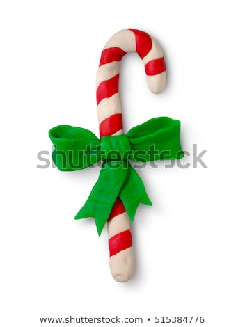 Handmade modeling clay figure with red and white stripes Stock photo © Zerbor