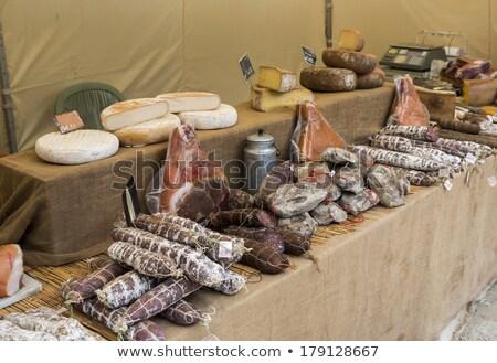 чеснока · рынке · Франция · продовольствие · овощей · улице - Сток-фото © compuinfoto