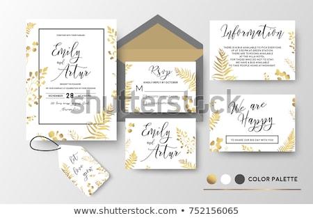 ősz · levél · ajándék · címke · izolált · fehér - stock fotó © carodi