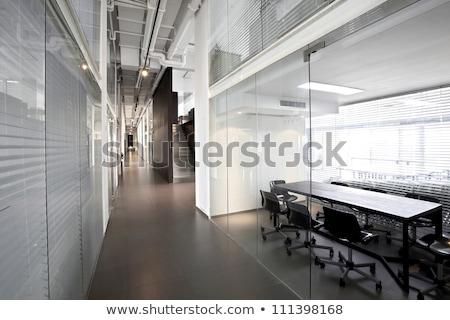 Lege kantoor gangpad zon business stad Stockfoto © meinzahn