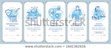 health kit blue vector icon design stock photo © rizwanali3d