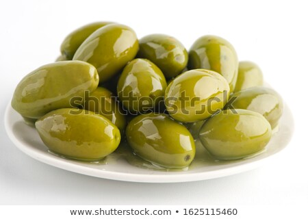 Stock photo: Marinated olives with  spices
