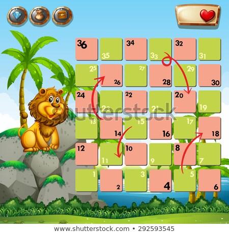 Labirint puzzle joc sablon ilustrare Imagine de stoc © colematt