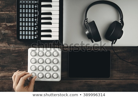 DJ set, tablet and electronic music instruments Stock photo © ra2studio