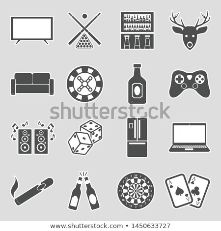 Man Cave Poker Illustration Stock photo © lenm