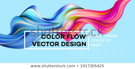 colorful flow poster with line banner stock photo © adamson