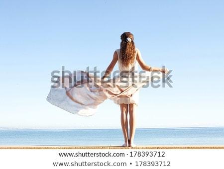 Meisje omhoog heldere licht jonge vrouw Stockfoto © lichtmeister