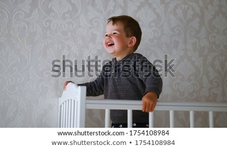 A blond-haired boy plays and has fun in the playroom. Stock photo © ElenaBatkova