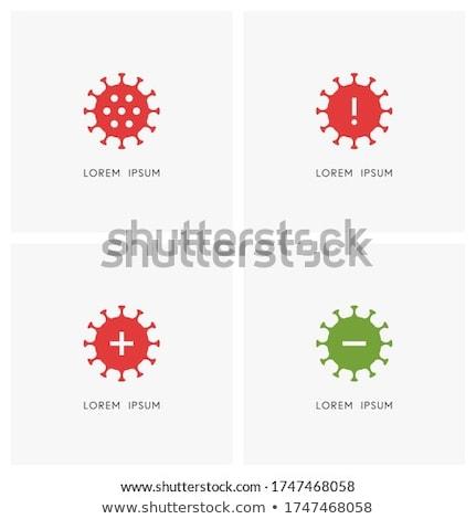 Coronavirüs pozitif negatif sonuç metin levha Stok fotoğraf © kup1984
