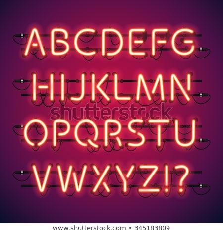 Elektrycznej neon moc promocji świetle tle Zdjęcia stock © Anna_leni