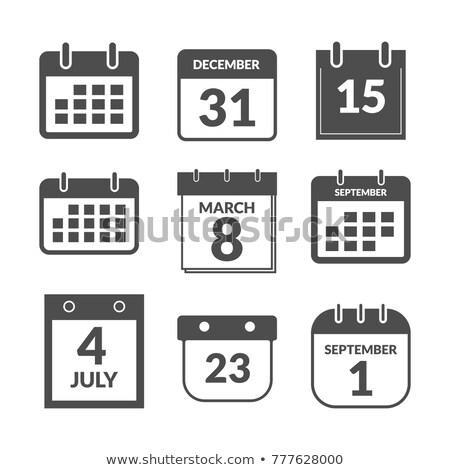 простой черный календаря икона декабрь дата Сток-фото © evgeny89