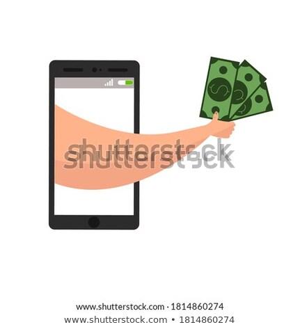 Mão carteira dinheiro compras on-line Foto stock © yupiramos
