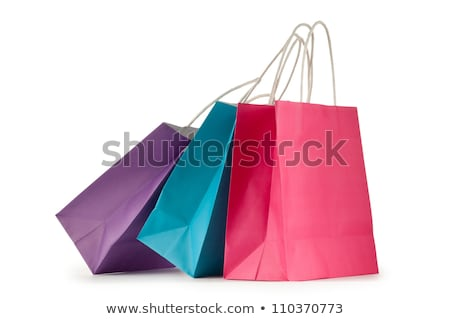 Papieru torbę na zakupy commerce rynku działalności Zdjęcia stock © yupiramos