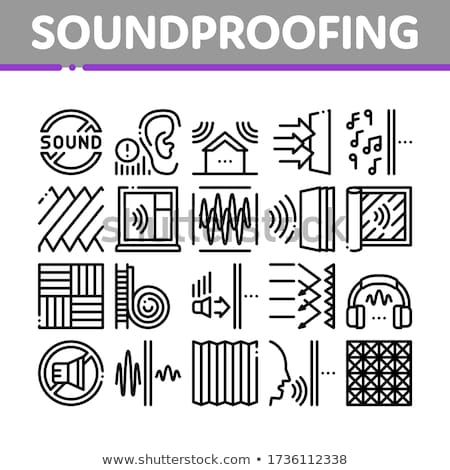 Soundproofing Building Material Icons Set Vector Stock photo © pikepicture