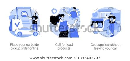 Llamada cargar productos resumen tienda número Foto stock © RAStudio