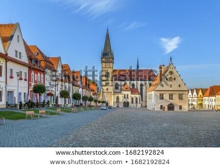 Central Square Bordejov Slovakia Stockfoto © Borisb17