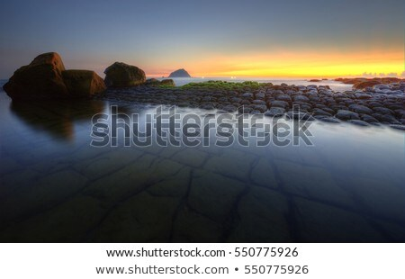 Gündoğumu uzun pozlama gökyüzü su gün batımı doğa Stok fotoğraf © kawing921