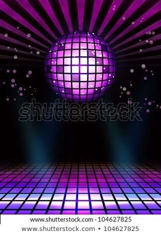 Abstract techno discoteca magia palla poster Foto d'archivio © simpson33