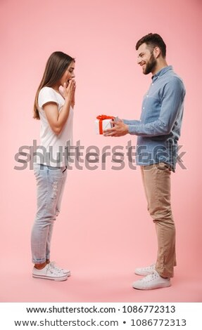 Man giving gift to girlfriend Stock photo © photography33