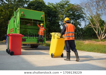 Man with recyclable rubbish Stock photo © photography33