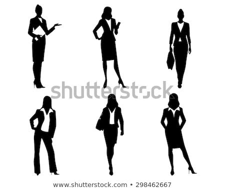 商业照片: 商界女强人 · 剪影 · 黑色 · 插图 · 向量