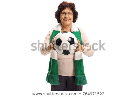Senior female soccer supporter Stock photo © ivonnewierink