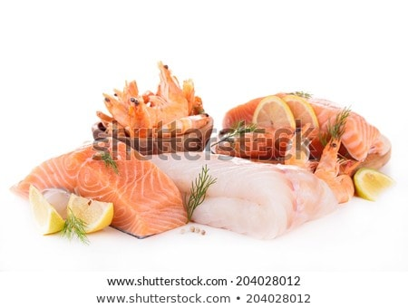 assortment of raw fish Stock photo © M-studio