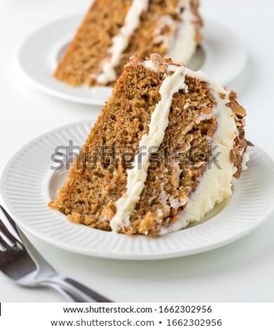 Dos zanahoria tortas estaño Foto stock © raphotos