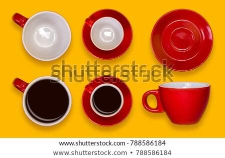 red tea saucer stock photo © petrmalyshev