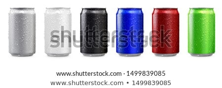 A silver tin can on a green background. Stock photo © netkov1
