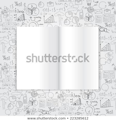 Revista livro desenho estratégia de negócios plano idéia Foto stock © netkov1