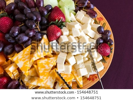 Stock photo: Cheese and fruit appetizer