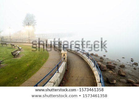 curving road and low clouds in british columbia stock photo © pictureguy