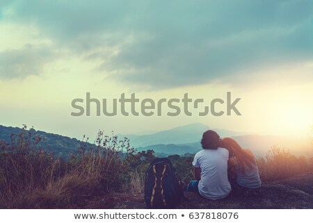 woman loving nature in the mountains and woods Stock photo © Giulio_Fornasar