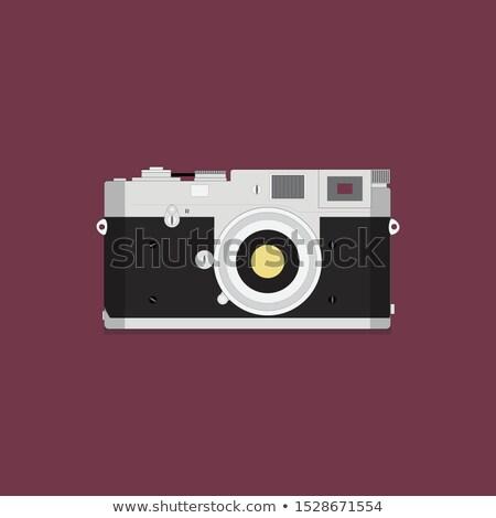 Lente câmera ícone estilo violeta tecnologia Foto stock © ylivdesign