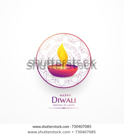 Felice diwali semplice saluto vibrante abstract Foto d'archivio © SArts
