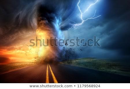 Storm dark clouds Stock photo © serg64