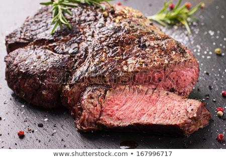 steak · mártás · tányér · illusztráció · étel · háttér - stock fotó © bluering