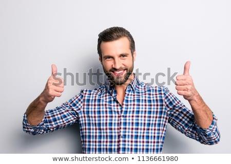 Сток-фото: портрет · возбужденный · молодые · бизнесмен