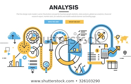 Web page design template for business plan, analysis and statistics, team building, consulting. Mode Stock photo © makyzz
