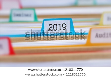 File folders with a tab labeled 2019 Stock photo © Zerbor