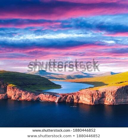 Ver belo lago escandinávia Dinamarca paisagem Foto stock © jeancliclac