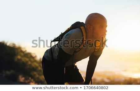 Elvesz törik nyom hátizsákos turista hideg nap Stock fotó © wildnerdpix