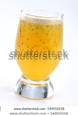 smoothie juice with chia seeds Stock photo © Melnyk